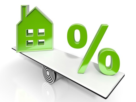 House And Percent Sign Means Investment Or Discount